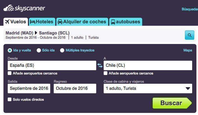 vuelos España Chile baratos