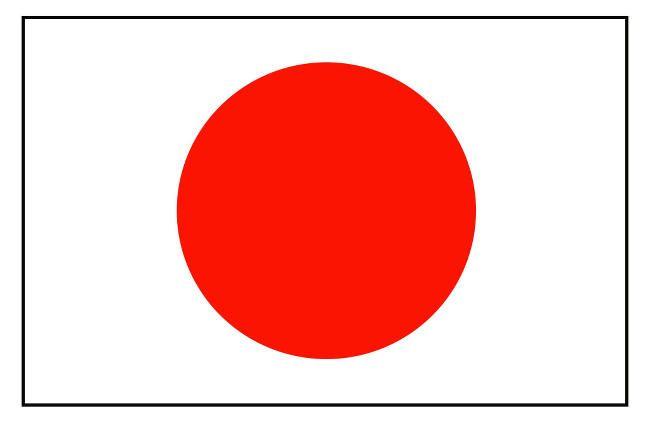 bandera de Japón aprender japones