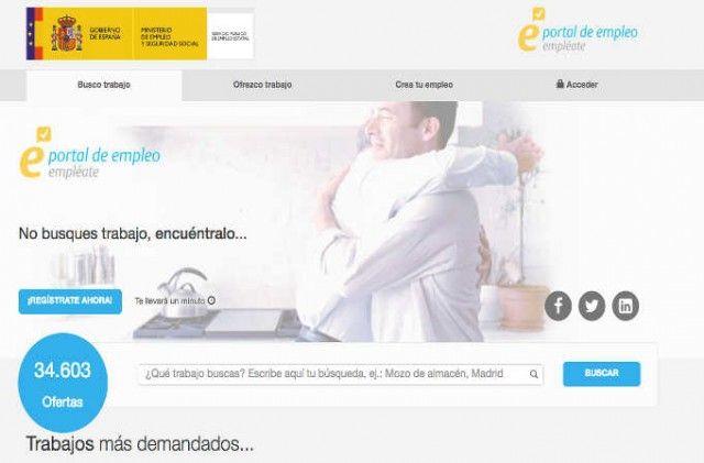 empleate web de empleo del gobierno de España