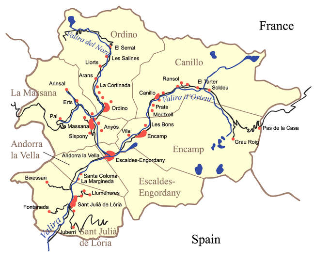 mapa trabajo en Andorra