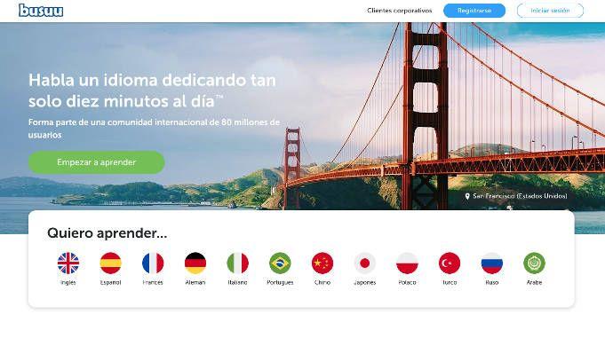 Bussu aplicacion aprender idiomas