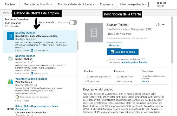 ofertas de empleo para trabajar como profesor de español 2