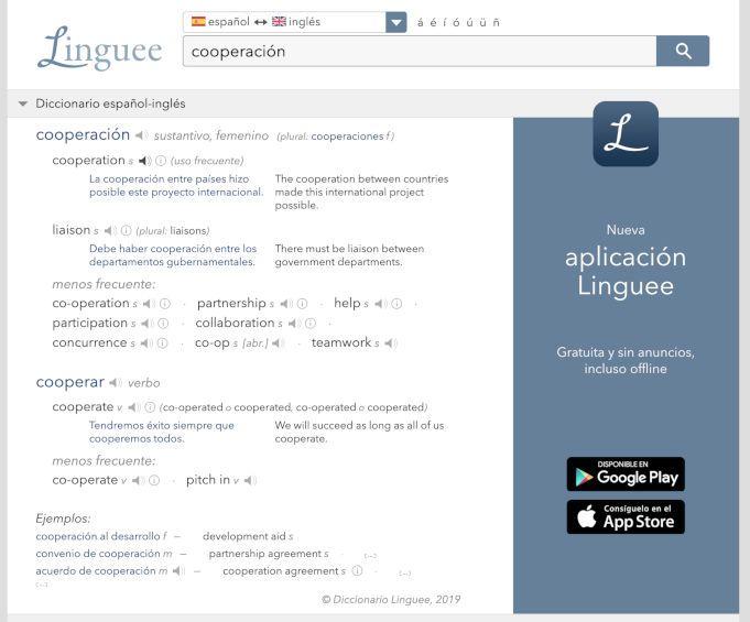 Linguee traductor