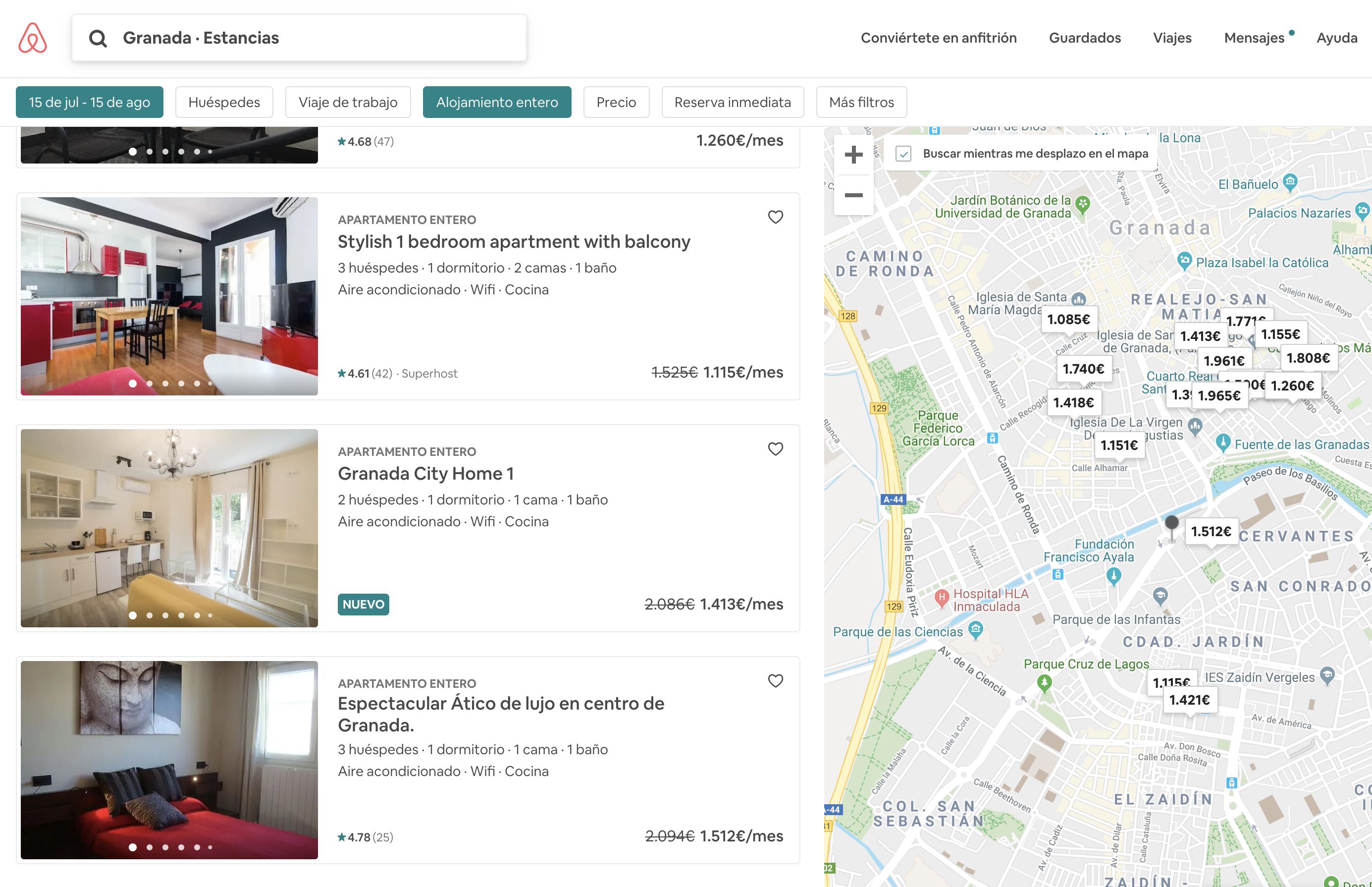 alojamiento con descuento en Airbnb