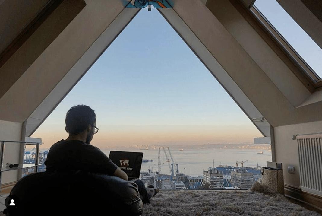 Trabajando en un Airbnb en Valparaiso