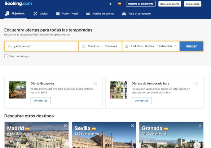 Booking la mejor alternativa a Airbnb