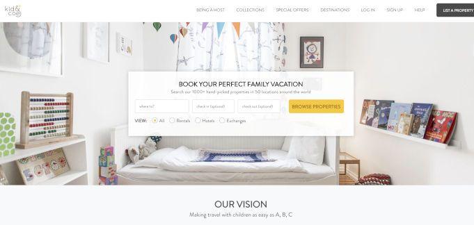 kidandco alternativa a airbnb viajar con niños