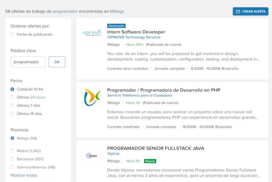 Programador Malaga InfoJobs