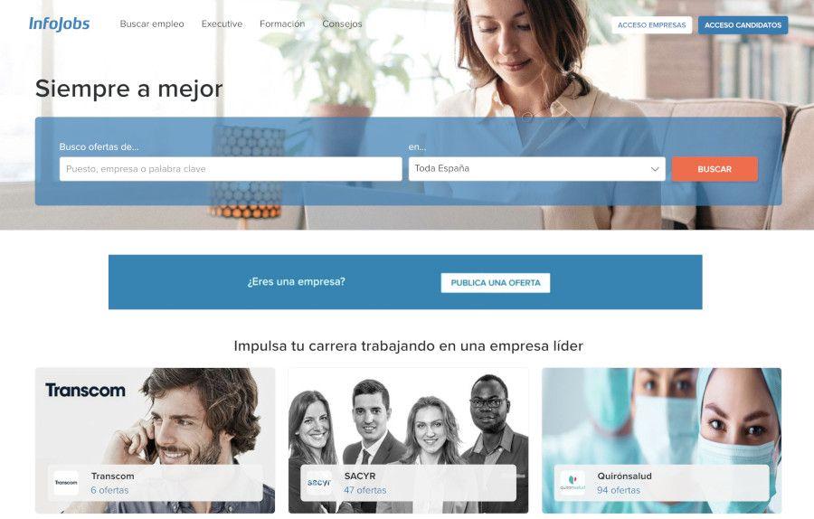 Web de InfoJobs