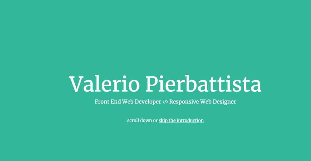 Currículum en formato web