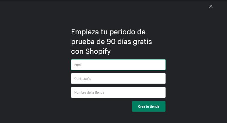 Acceder a Shopify