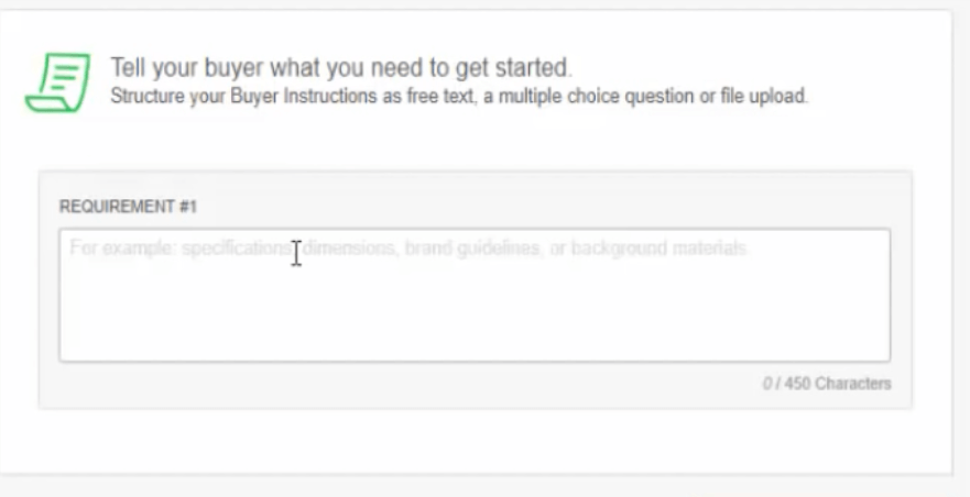 tell your buyer what you need to get started Fiverr