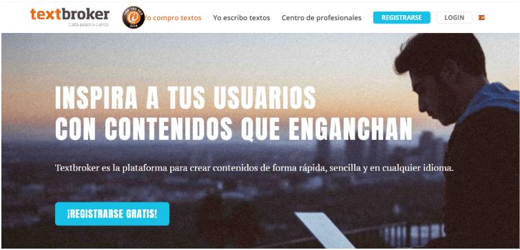 Ingresa a textbroker.es