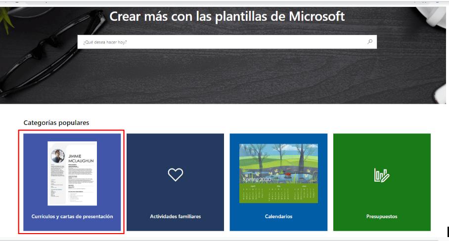 encontrar plantillas de carta de presentación para Microsoft Word online