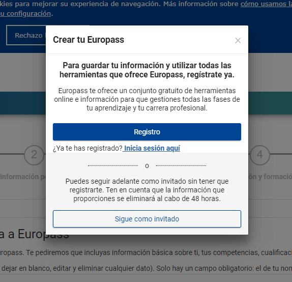 crear tu europass