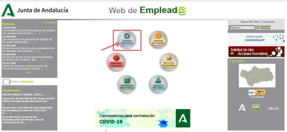 consultar la lista de la Bolsa Única Común de Empleo Público de la Junta de Andalucía
