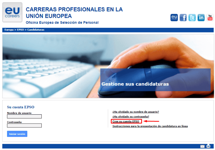 EPSO ofertas de empleo en el extranjero