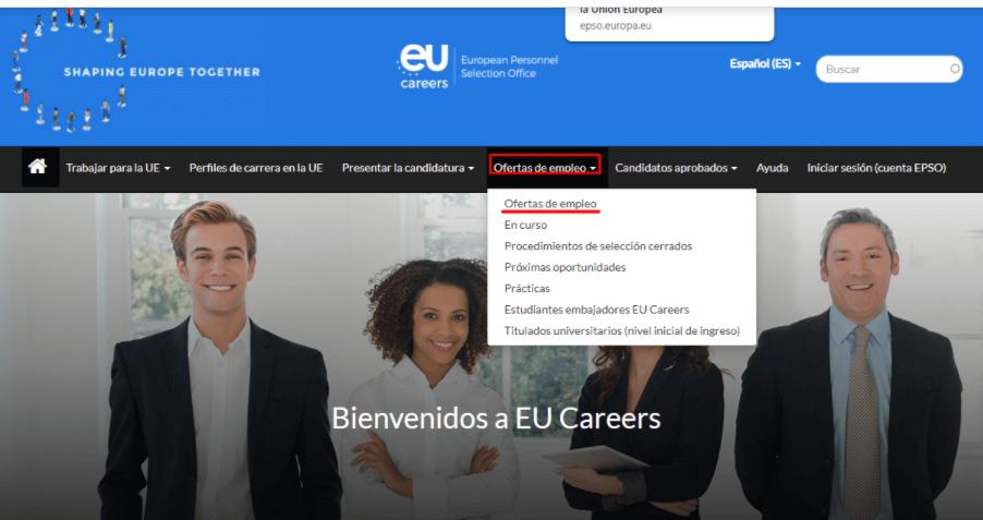 Ofertas de empleo Epso