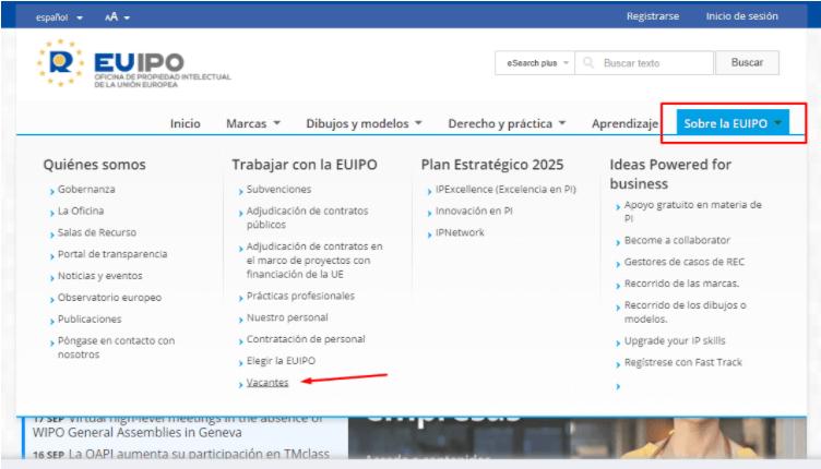 EUIPO ofertas de trabajo