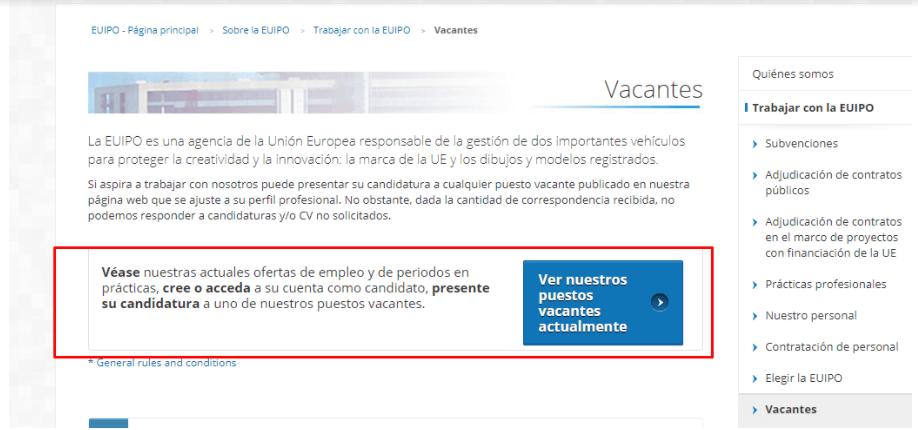 EUIPO - Empleo