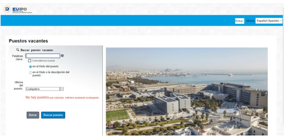 EUIPO - Enviar Curriculum