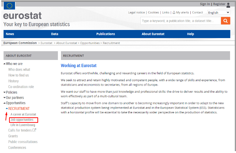 Eurostat - seleccion de empleo
