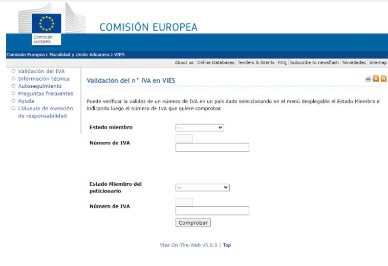 ¿Cómo consultar el VIES desde la Comisión Europea?