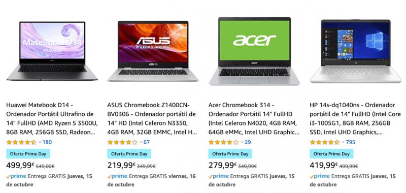 Ofertas Prime Day ordenadores