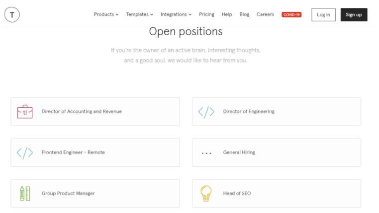 Cómo solicitar un empleo en Typeform