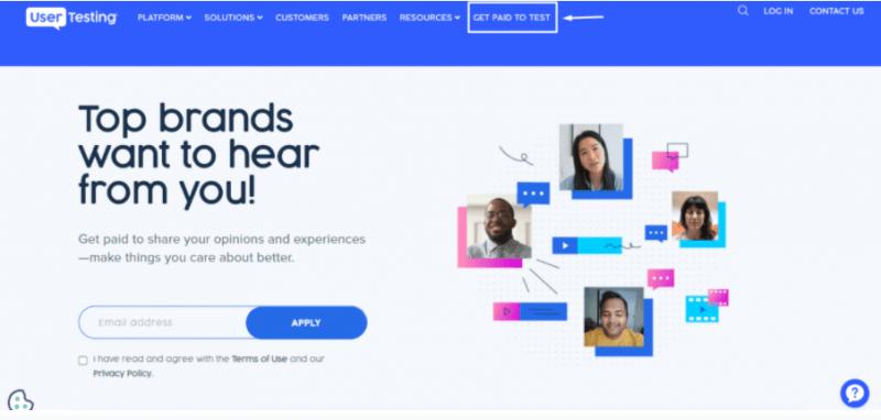 UserTesting ganar dinero online