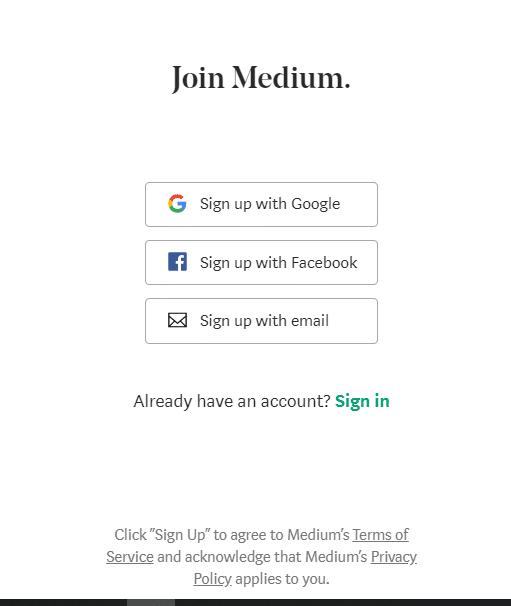 acceder a Medium