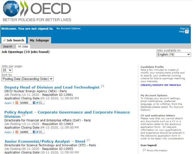 OCDE - Empleo en el extranjero