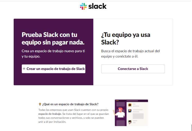 Registrarse en Slack