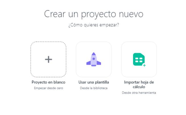 Crear un proyecto nuevo ASANA
