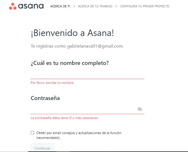 Bienvenido a Asana