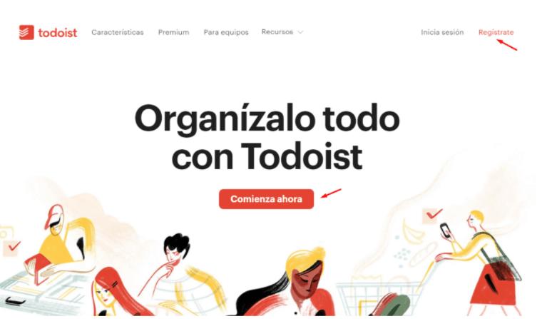 Accede al portal oficial de ToDoist