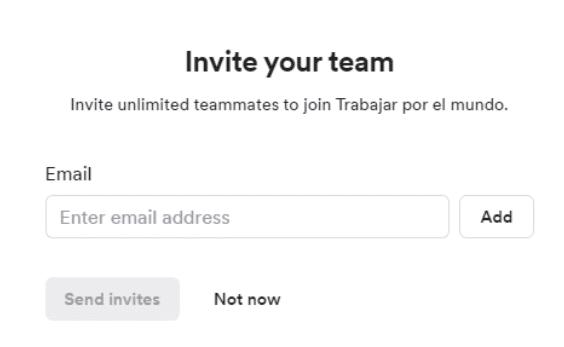 invitar a que otros usuarios se unan a tu Workspace en Loom