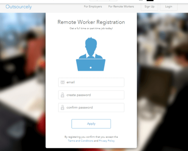 Registrarse en Outsourcely paso a paso