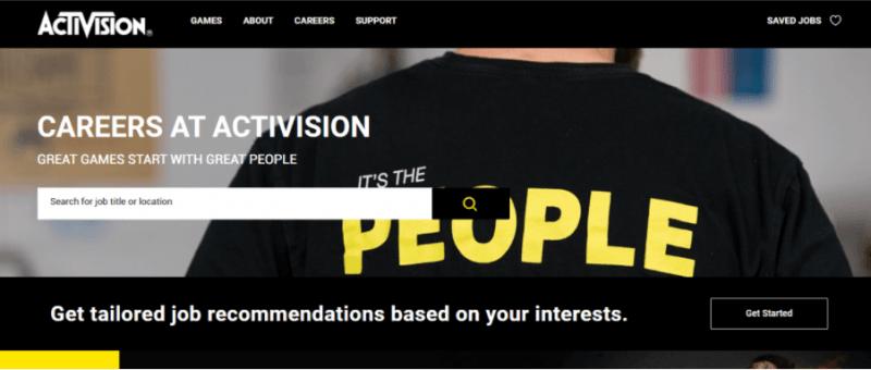 oportunidades de empleo en Activision