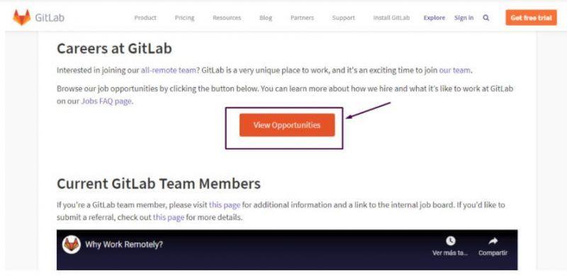Gitlab oportunidades empleo remoto