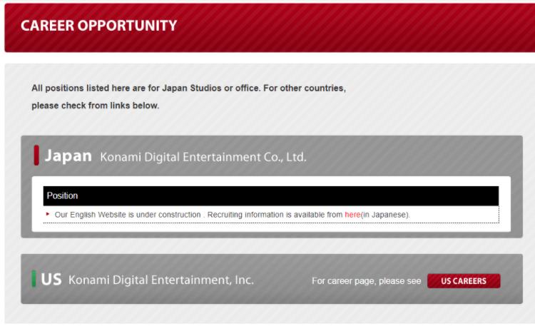 Konami empleo