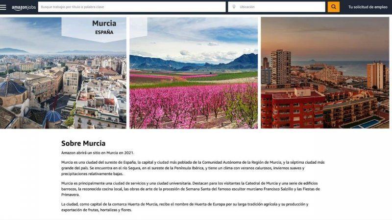 ofertas de empleo de Amazon en Murcia