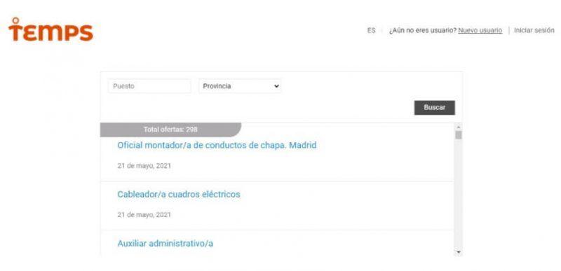 Temps empleo España