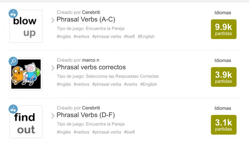 Recursos para aprender Phrasal verbs
