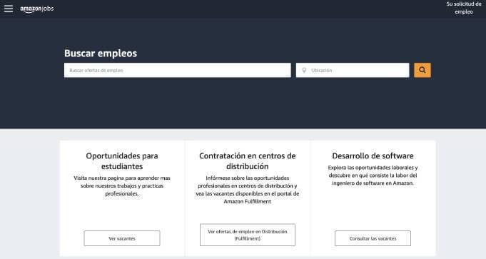 Ofertas de trabajo en Amazon