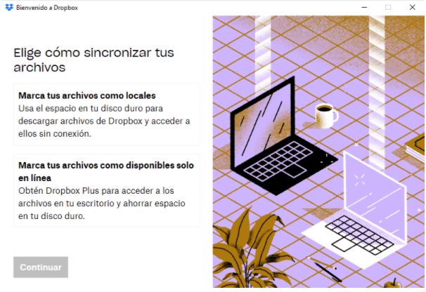 espacio de Dropbox
