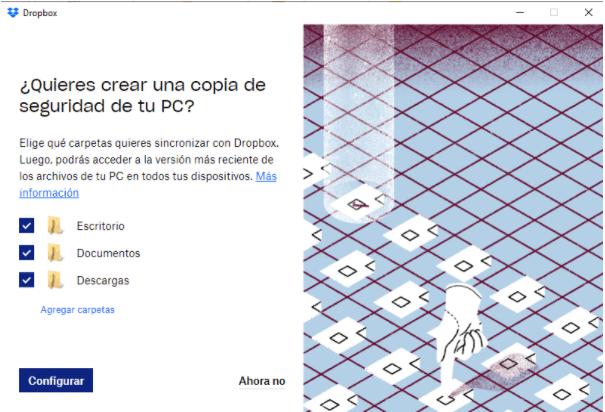 Selecciona las carpetas que deseas sincronizar en tu nube de Dropbox