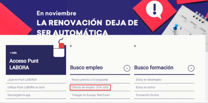 Labora Valencia ofertas de empleo