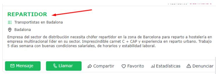 oferta de empleo en Milanuncio